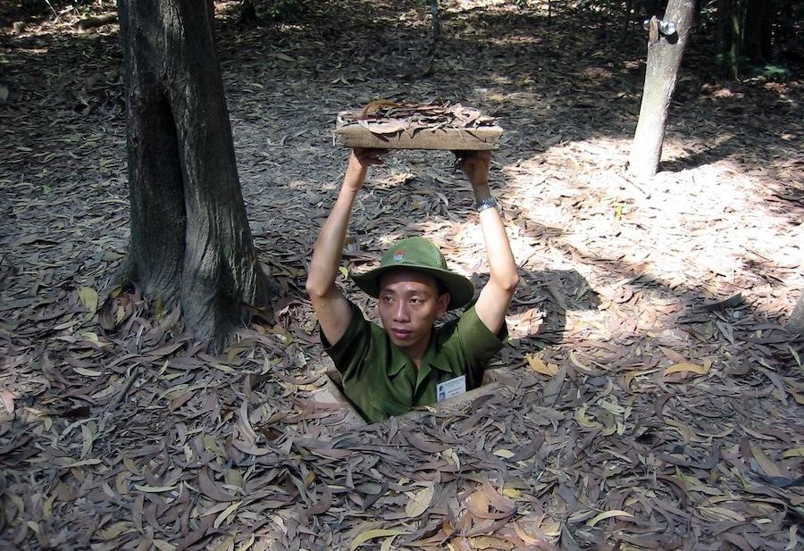 Cu_Chi_Tunnel_system - dark tourism Vietnam