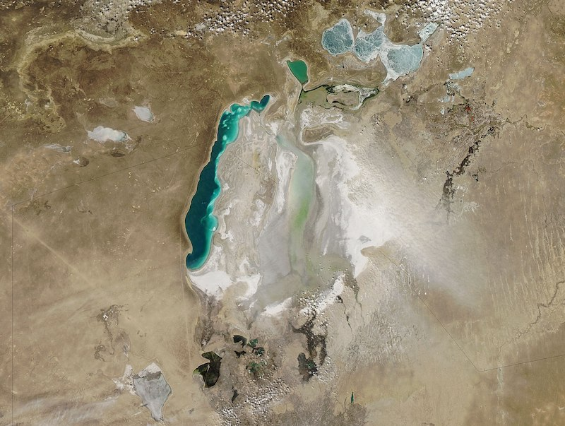 Aral Sea in 2010
