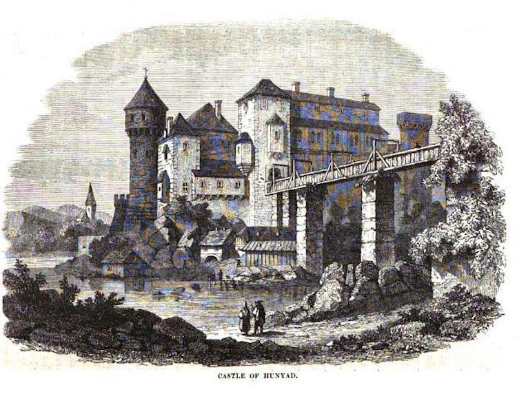 Corvin Castle Mid19th history