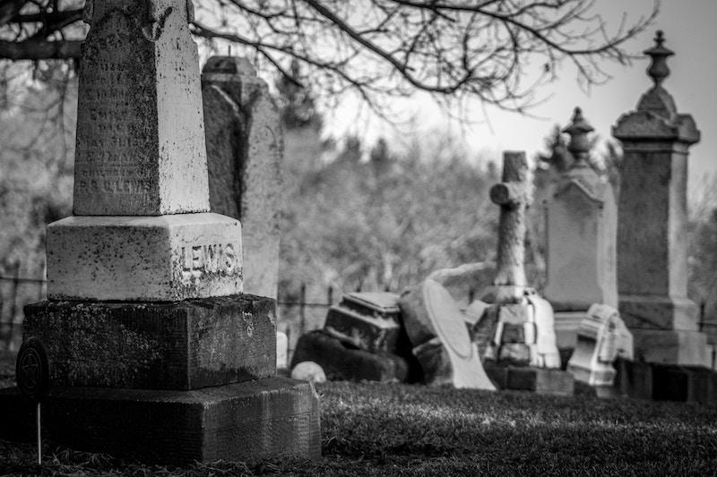 bw victorian cemetery