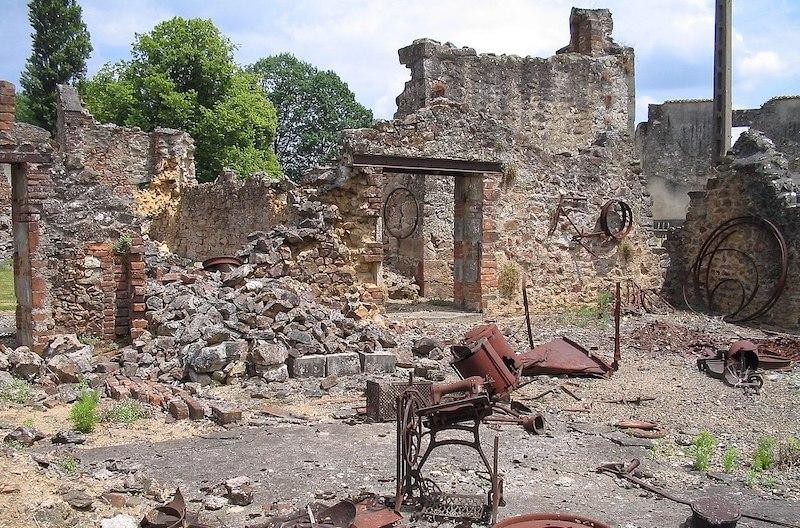Oradour-sur-Glane wreckage