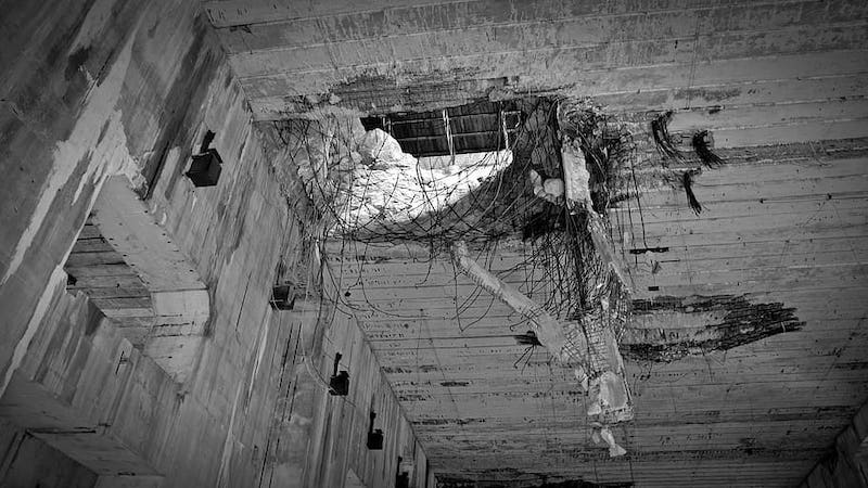 Bunker Valentin bomb damage