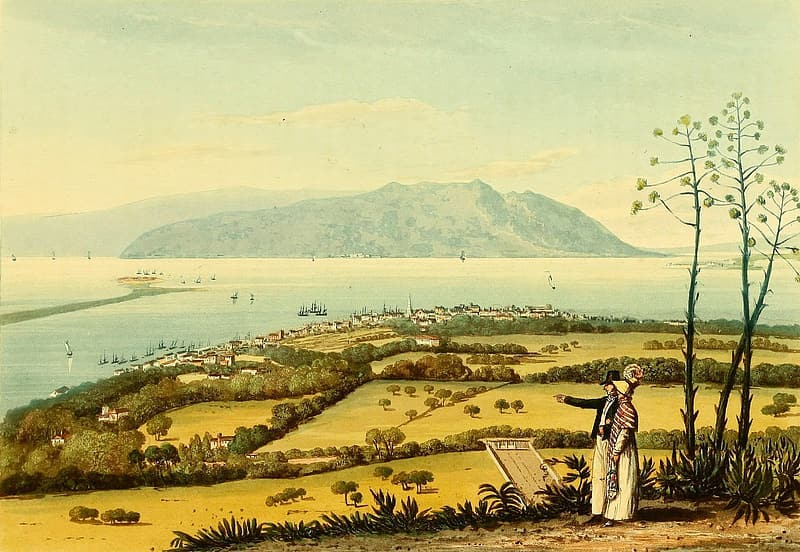 ships-and-landscape-at-port-royal-jamaica