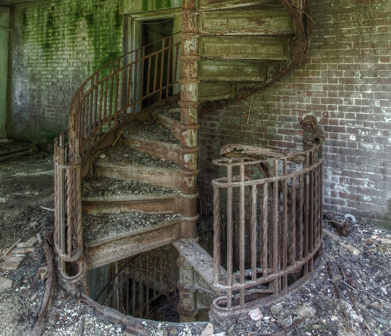 north brother island staircase